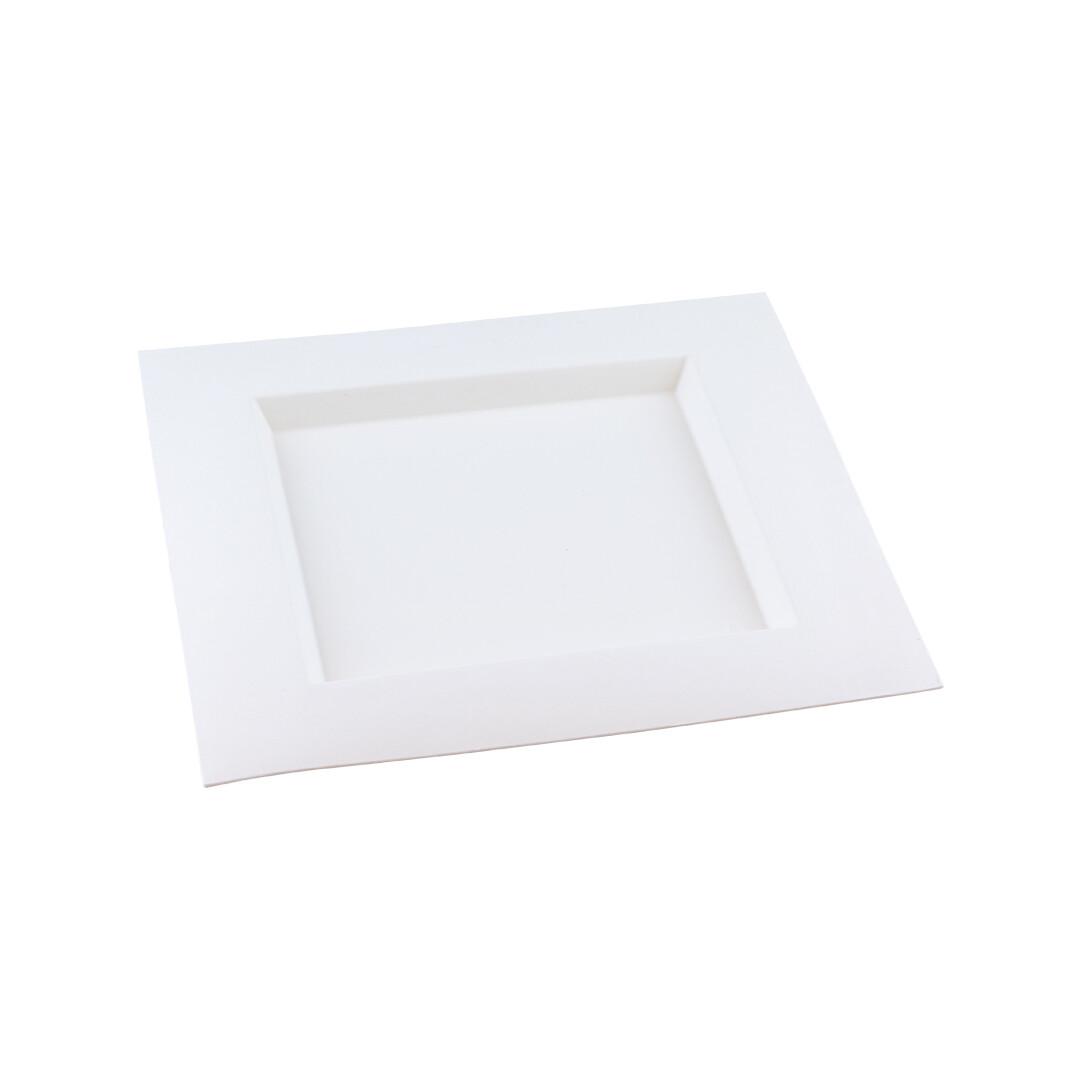 "Bagasse bord ""Karo"" 260x260x20mm Verpakt per 50 stuks"