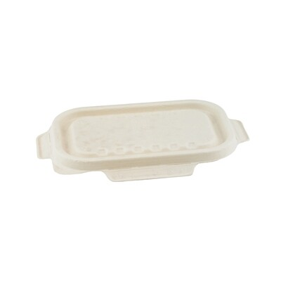 Bagasse deksel bruin voor maaltijdbak 500/650ml  Verpakt per 250 stuks