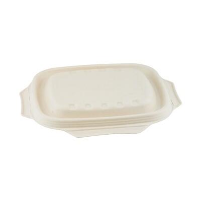 Bagasse deksel bruin voor maaltijdbak 850/1000ml, verpakt per 250 stuks