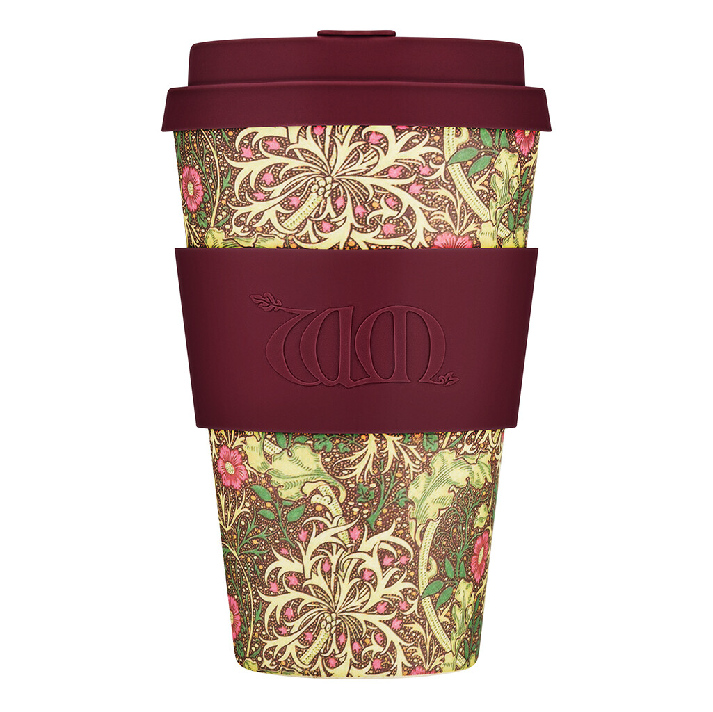 """Ecoffee cup """"Seaweed"""" 14oz/400ml William Morris collectie"""