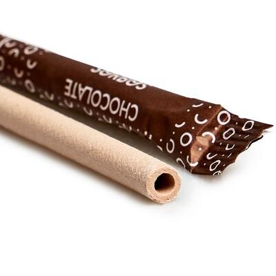 Eetbare rietjes chocoladesmaak. 8x187mm, verpakt per 200 stuks