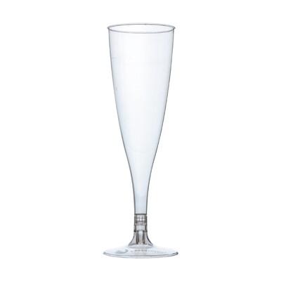 PLA champagneglas 100ml, verpakt per 27 stuks