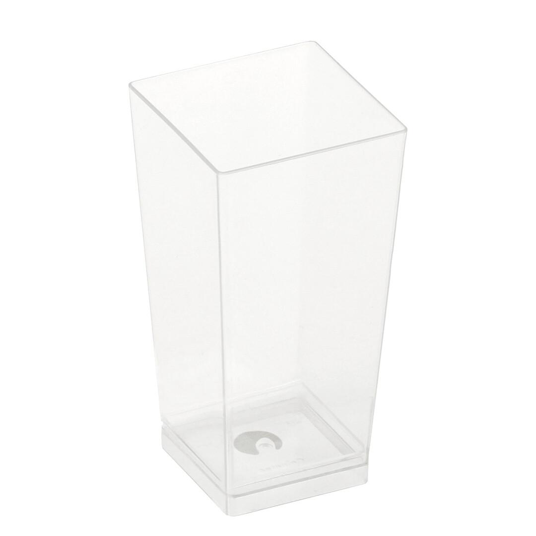 PLA amusebakje Kova 100ml 4x4x8,2cm, verpakt per 25 stuks