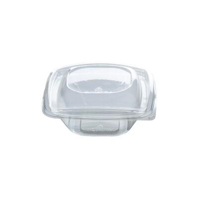 PLA saladebakje + deksel transparant 240ml, verpakt per 40 stuks