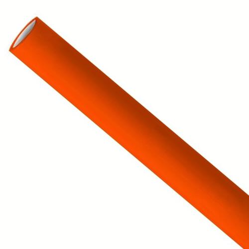 Premium papieren rietjes 6x200mm oranje, verpakt per 500 stuks