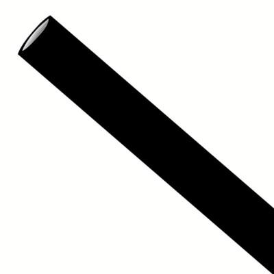 Premium papieren rietjes 6x200mm zwart, verpakt per 250 stuks in dipenserdoos