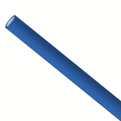 Premium papieren rietjes 6x200mm donkerblauw, verpakt per 500 stuks