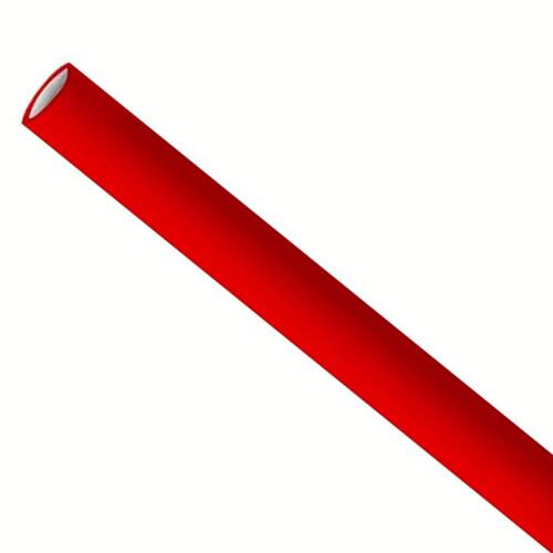 Premium papieren rietjes 6x200mm rood, verpakt per 500 stuks