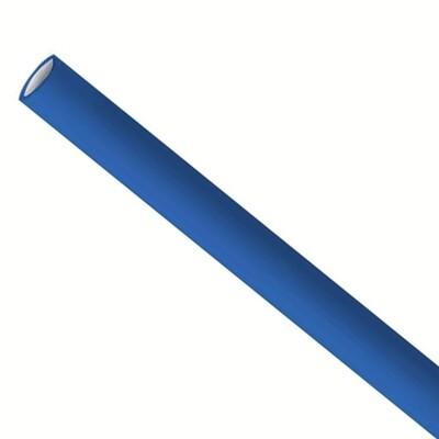 Premium papieren rietjes 6x200mm donkerblauw, verpakt per 5000 stuks