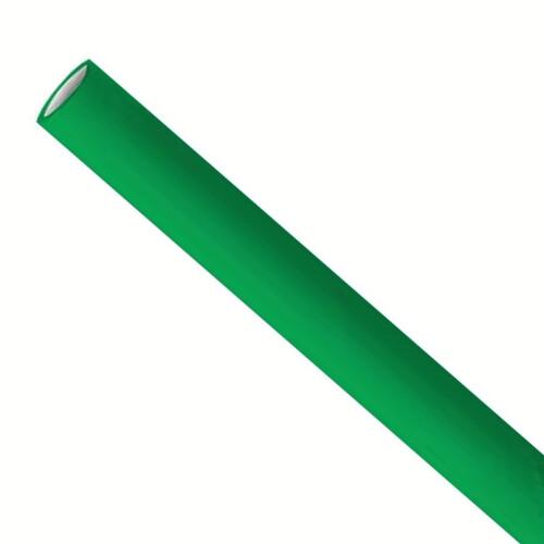 Premium papieren rietjes 6x200mm groen, verpakt per 5000 stuks