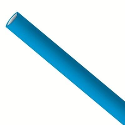 Papieren rietjes 6x200mm blauw, verpakt per 500 stuks