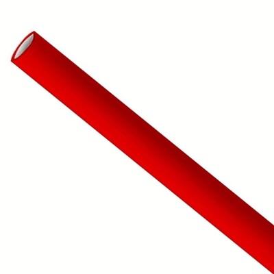 Papieren rietjes 6x200mm rood, verpakt per 500 stuks