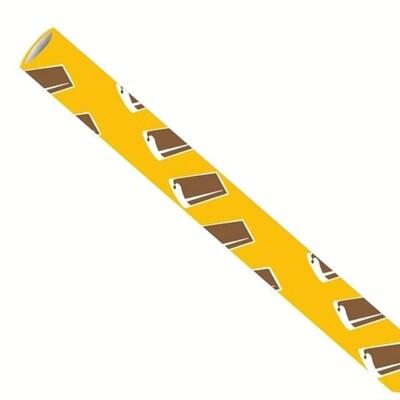 Premium papieren rietjes 6x200mm