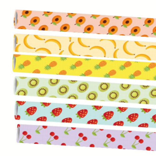 Premium papieren rietjes 6x200mm Fruitmix, verpakt per 5000 stuks