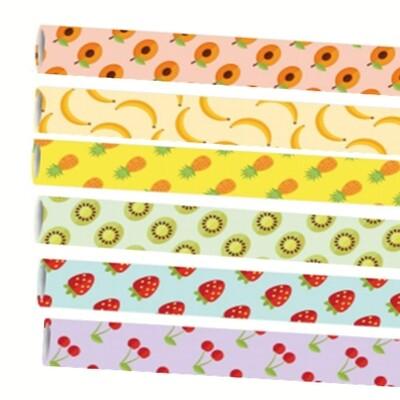 Premium papieren rietjes 6x200mm Fruitmix, verpakt per 250 stuks