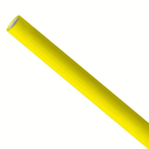 Premium papieren rietjes 6x200mm geel, verpakt per 5000 stuks