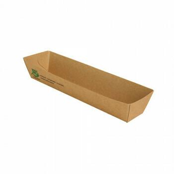 Snackbakje A16N karton (100% FAIR) | 18,5 cm x 3,3 cm x 3 cm, verpakt per 80 stuks
