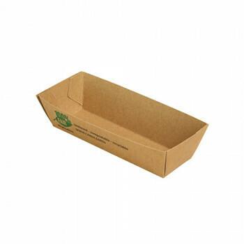 Snackbakje A5 karton (100% FAIR) | 10,5 cm x 3,3 cm x 3 cm Verpakt per 960 stuks.