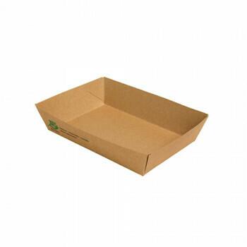 Snackbakje A50 karton (100% FAIR) | 16 cm x 11 cm x 4 cm, verpakt per 80 stuks