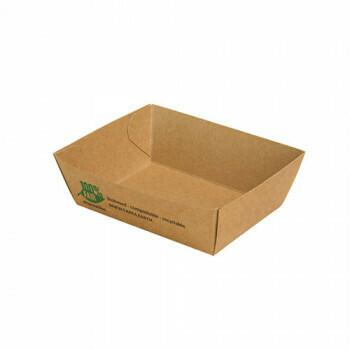 Snackbakje A7 karton (100% FAIR) | 9 cm x 7 cm x 3,5 cm, verpakt per 80 stuks