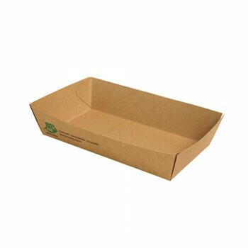 Snackbakje A14 karton (100% FAIR)   15,5 cm x 8,5 cm x 3,5 cm, verpakt per 80 stuks