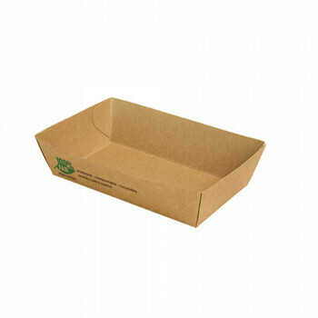Snackbakje A9 karton (100% FAIR) | 12 cm x 7 cm x 3,5 cm, vepakt per 400 stuks