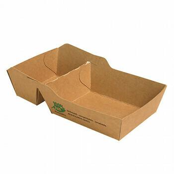 Snackbakje A7+1 (A23) karton (100% FAIR) | 7 cm x 9 cm x 3,5 cm, verpakt per 80 stuks