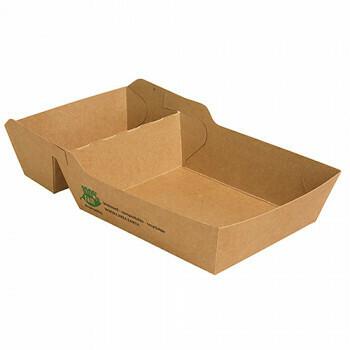Snackbakje A14+1 (A20) (100% FAIR) | 15,5 cm x 8,5 cm x 3,8 cm, verpakt per 80 stuks