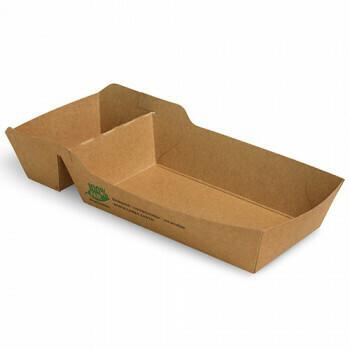 Snackbakje A9+1 (A22) karton (100% FAIR) | 12 cm x 7 cm x 3,5 cm, verpakt per 80 stuks