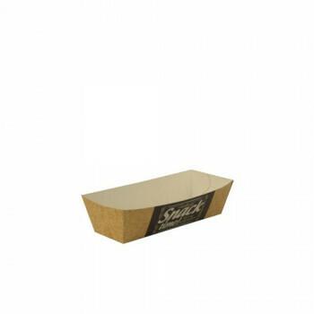 Snackbakje A9 karton (Good Food) |12 cm x 7 cm x 3,5 cm. verpakt per 600 stuks