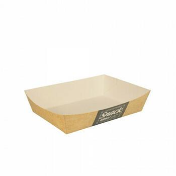 Snackbakje A50 karton (Good Food) | 16 cm x 11 cm x 4 cm. verpakt per 400 stuks