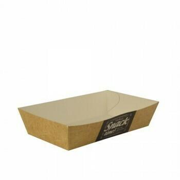 Snackbakje karton (Good Food) | 8,5 cm x 15,5 cm x 3,8 cm. verpakt per 750 stuks