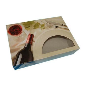 Cateringdoos (Bordeaux) | 55.7x37.6x8cm,Verpakt per 40 stuks