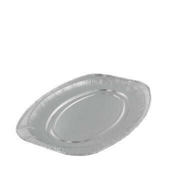 Aluminium cateringschaal ovaal 35x24cm, verpakt per 100 stuks