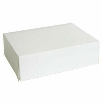 Gebaksdozen (medium), Wit Karton | 24x16cm, verpakt per 250 stuks