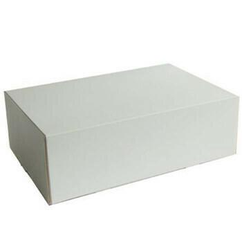 Gebaksdozen (groot), Wit Karton   26x20cm, verpakt per 225 stuks