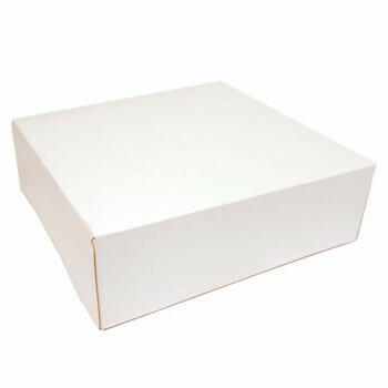 Gebaksdoos, wit karton   25x25cm, verpakt per 125 stuks