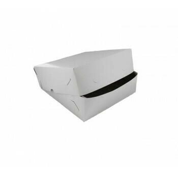 Zwanenhalsdoos, Wit Karton | 25x25cm, verpakt per 50 stuks