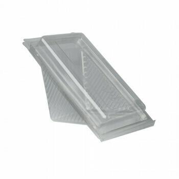 Sandwichboxen met klapdeksel, PLA 'pure' rectangular 7 cm x 10 cm x 17,8 cm transparant medium, Verpakt per 500 stuks