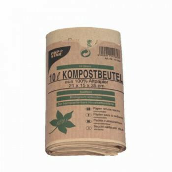 Compostzakken, papier 10 l 35 cm x 21 cm x 15 cm bruin', verpakt per 200 stuks