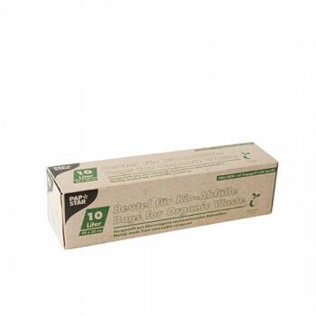 Compostzakken, bio-folie 35 liter 70 cm x 55 cm groen met handvatten, verpakt per 90 stuks