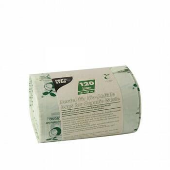 Compostzakken, bio-folie 120 liter 123 cm x 88 cm groen, verpakt per 150 stuks