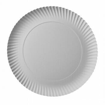 Borden, karton 'pure' rond Ø 32 cm · 2 cm wit, Verpakt per 200 stuks