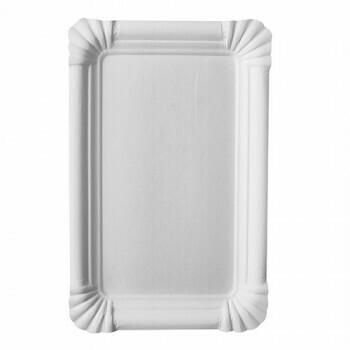 Schaaltjes, karton 'pure' plein 13 cm x 20 cm wit, Verpakt per 1000 stuks