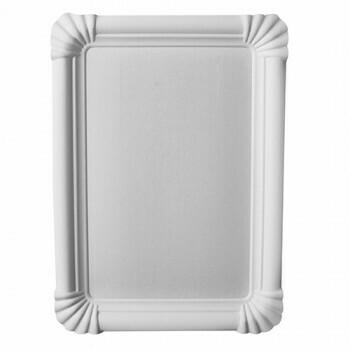 Schaaltjes, karton 'pure' plein 16,5 cm x 20 cm wit, Verpakt per 500 stuks