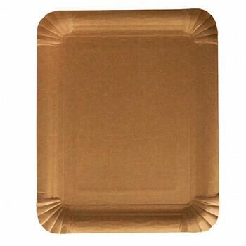 Schaaltjes, karton 'pure' rectangular 16,5 cm x 20 cm bruin, Verpakt per 500 stuks