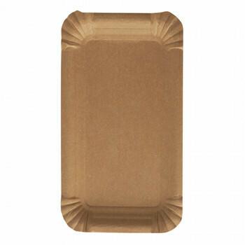 Schaaltjes, karton 'pure' rectangular 11 cm x 17,5 cm bruin, Verpakt per 1000 stuks