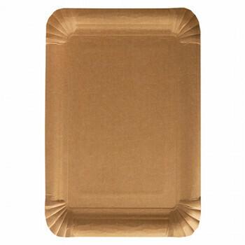 Schaaltjes, karton 'pure' rectangular 18 cm x 26 cm bruin, Verpakt per 500 stuks