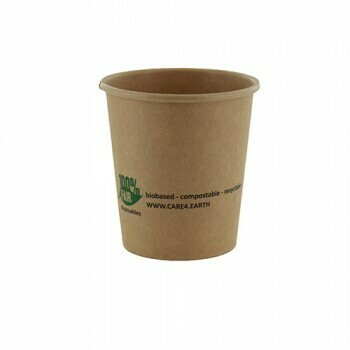 Duurzame sauscups / sausbakjes, Karton (100%FAIR)  120ml, verpakt per 2000 stuks