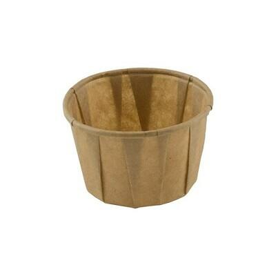 FSC® papieren sausbakje 1,25oz / 37ml bruin, verpakt per 5000 stuks